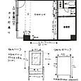 展示室(会場)平面図・ポスター看板サイズ・移動壁面サイズ(1枚)